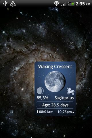 Moon Widget Deluxe- screenshot