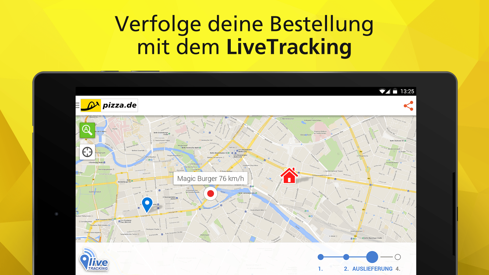 pizza.de - order food online - screenshot