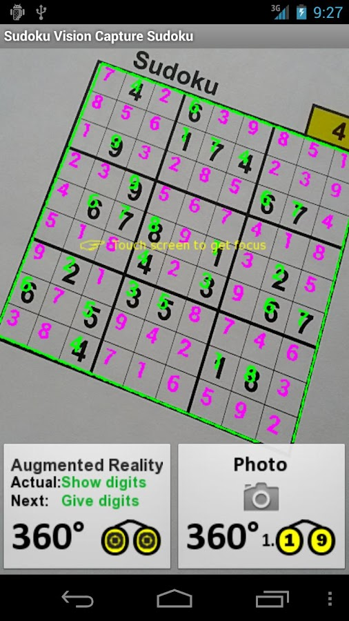 Sudoku Vision - screenshot