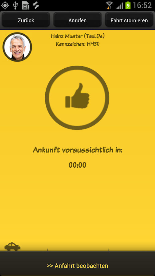 Taxi.de - screenshot