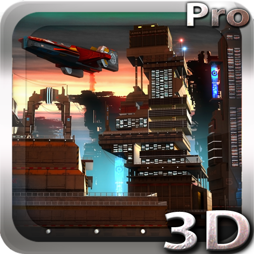Space Cityscape 3D LWP Apps til Android