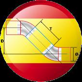 CÁLCULO DE TUBERÍAS  A 45º