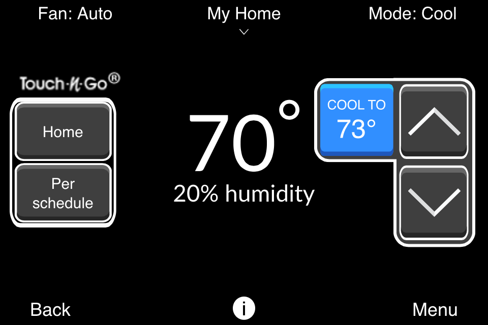 Bryant® Housewise™ Thermostat- screenshot