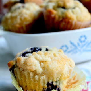Lemon Blueberry Muffins with Crumble.