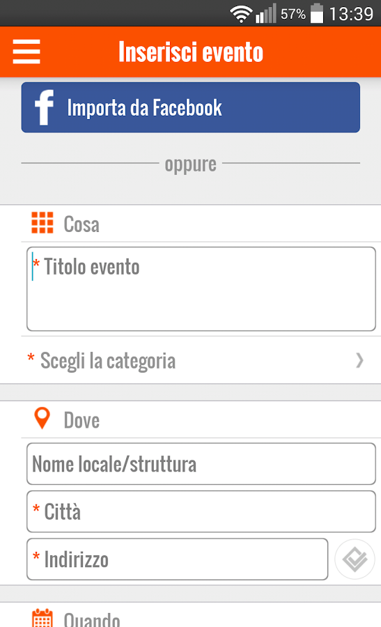 Where's Up? - Events in Italy- screenshot