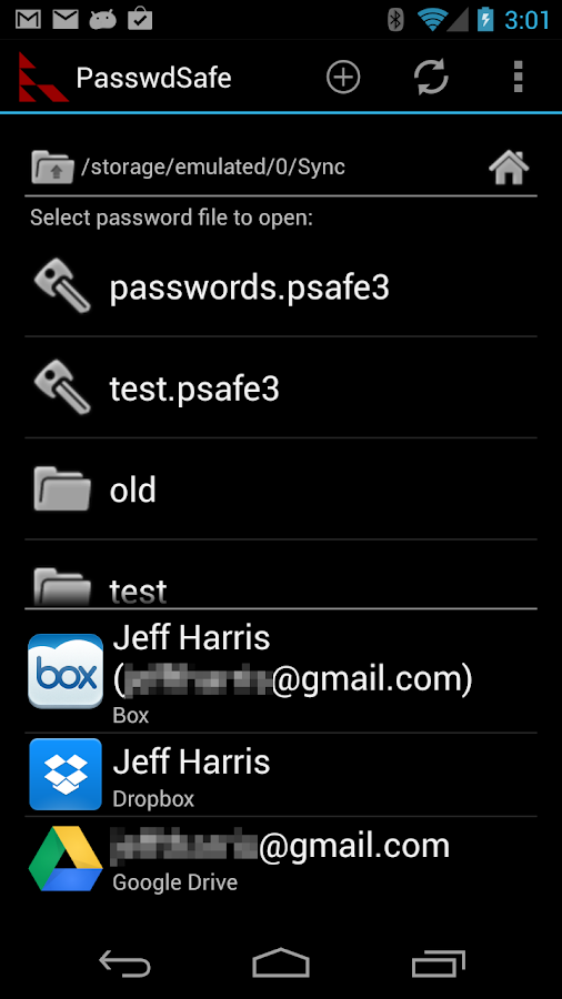 PasswdSafe - Password Safe- screenshot