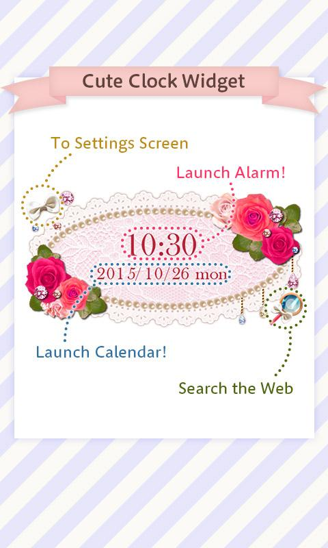 Cute Clock Widget 2 【FREE】- screenshot