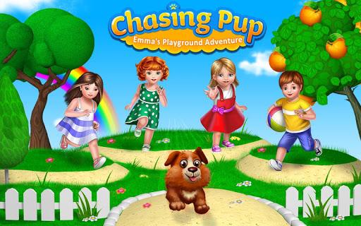 Chasing Pup- Emma's Playground