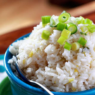 Sticky Coconut Rice with Scallions and Goodness and Light.