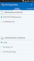 Screenshot of FRITZ!App Media