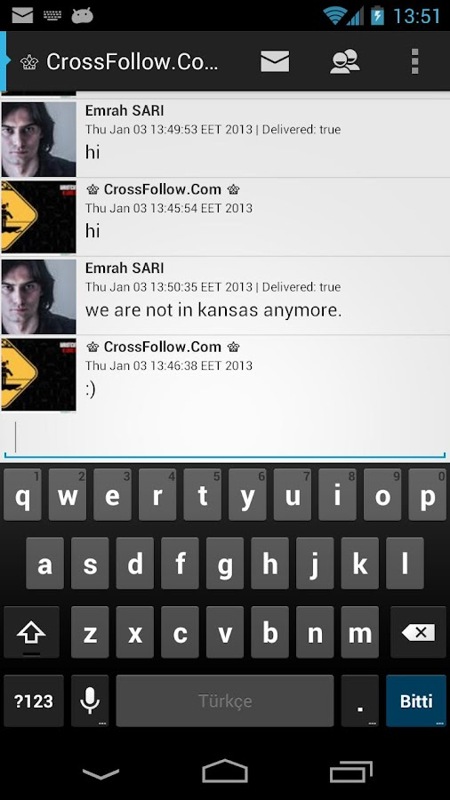 OverOz Twitter Messenger - screenshot