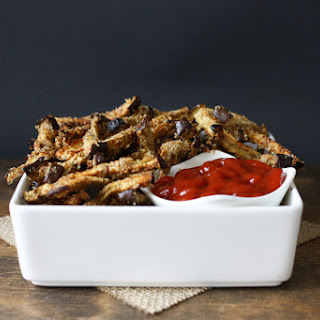Oven Baked Eggplant Fries.
