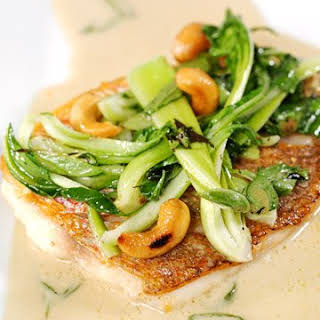 Red Snapper with Baby Bok Choy.