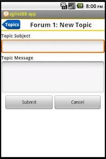 agilistBB app- screenshot thumbnail