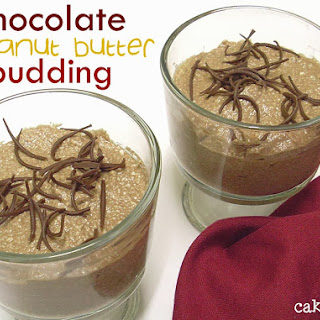 Healthier Chocolate and Peanut Butter Pudding