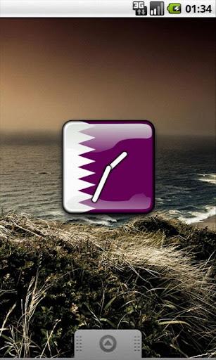 Qatar Flag Clock Widget