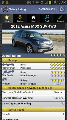 SaferCar - screenshot