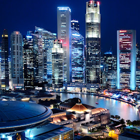 Financial Institutions & Tourism Attractions within The Singapore River...Singapore River by William Cho - Buildings & Architecture Architectural Detail ( parliament house, boat quay, financial district, architecture, singapore, banks, supreme court, river )