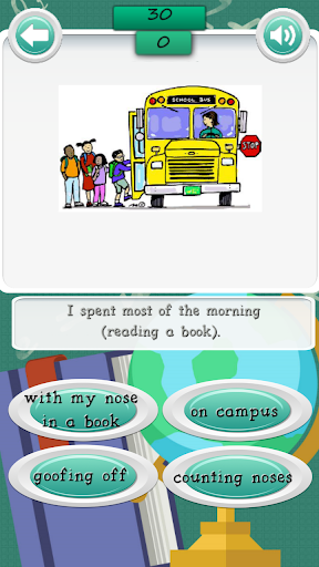 School Idioms Quiz