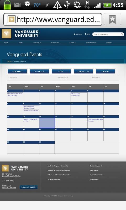 Vanguard University - screenshot