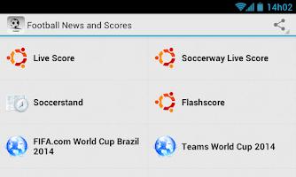 Screenshot of Football News and Scores