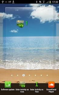 Solar Activity Monitor Widget- screenshot thumbnail