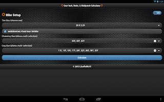 Screenshot of Gear Inch Calc