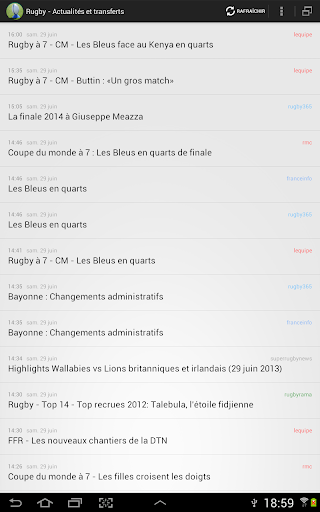 Rugby -Actualités transferts
