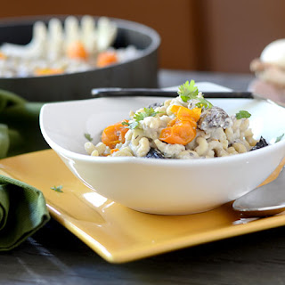 Mushroom Leek Pasta Cauliflower Sauce