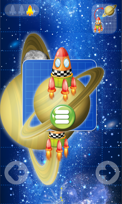 Puzzle game a spaceship flight- screenshot