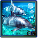 Dolphins with Bubbles LWP icon