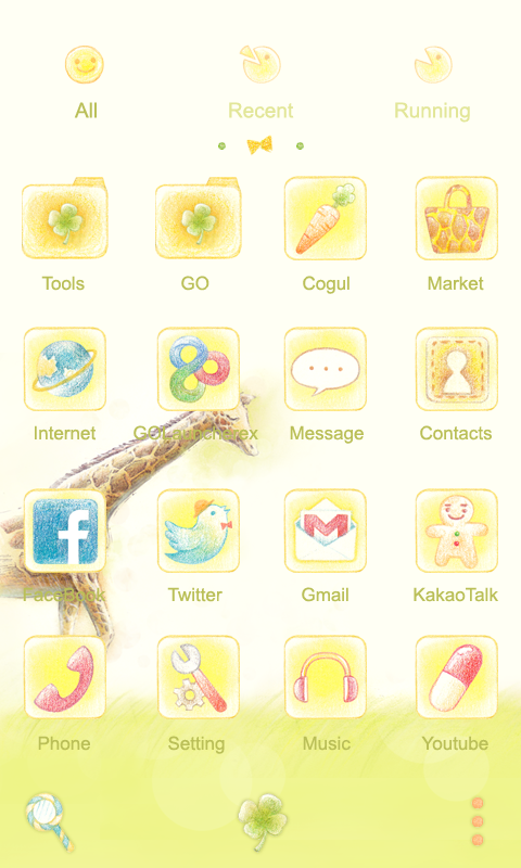 Hello,Giraffe Launcher Theme - screenshot
