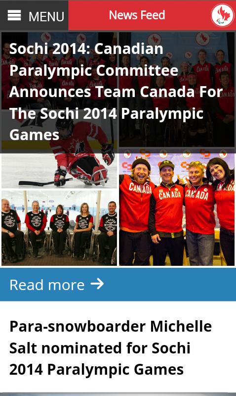 Canadian Paralympic Team - screenshot
