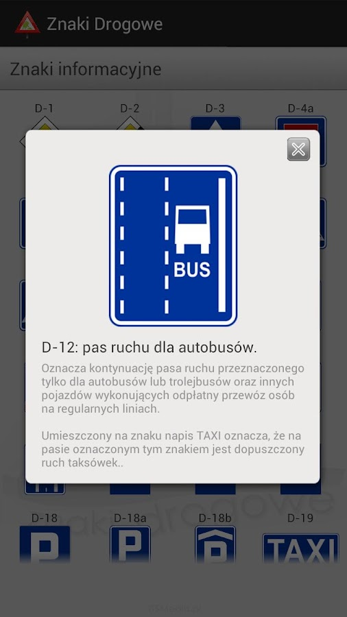 Znaki Drogowe Free - screenshot