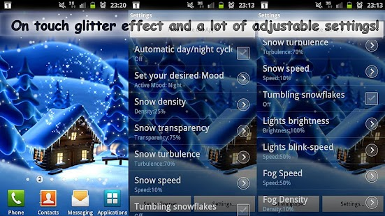 Winter Snow Cartoon LWP PRO - screenshot thumbnail