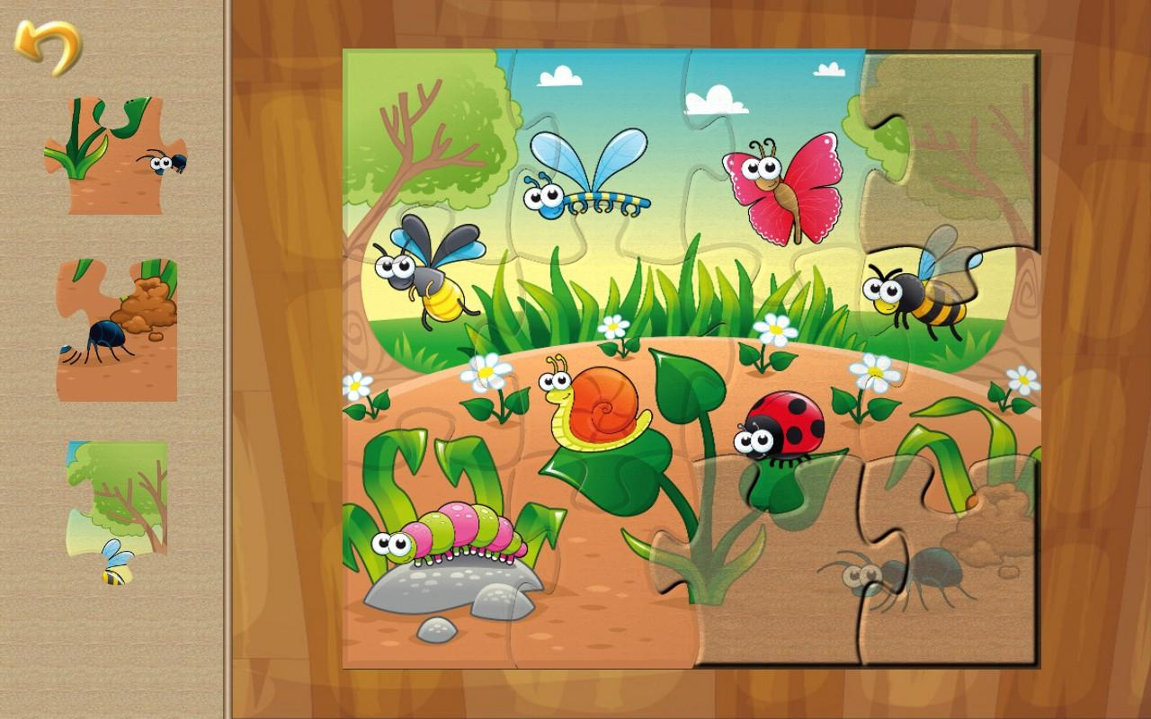 Insects Reptiles & Bees Puzzle- screenshot