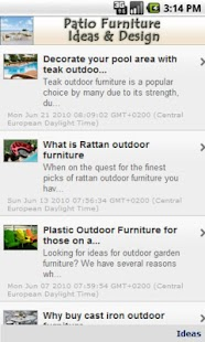 Patio Furniture Ideas & Design- screenshot thumbnail