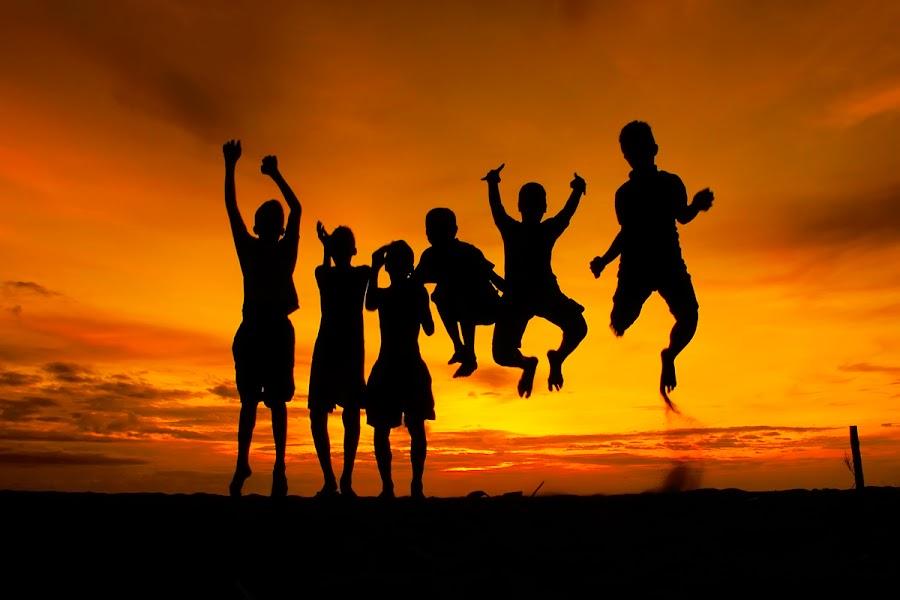 Jump by Primayudha Putera - People Street & Candids ( silhouette kids )