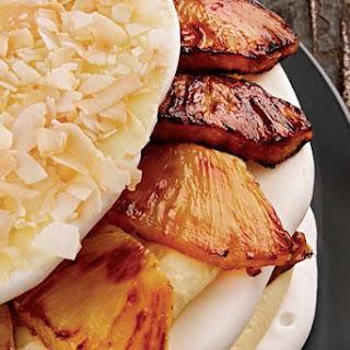 Pineapple Coconut Meringue Torte.