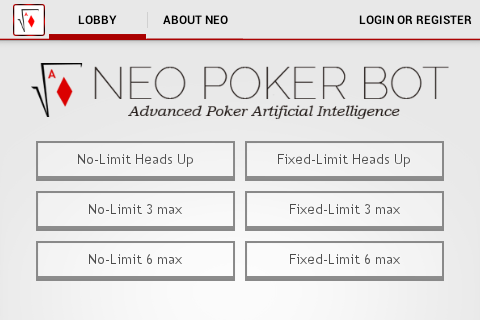 Neo Poker Bot - screenshot