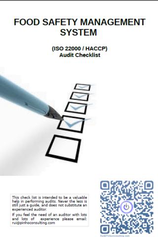 ISO22000 HACCP Checklist