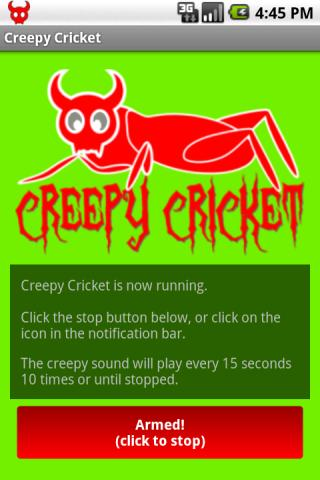 Creepy Cricket- screenshot