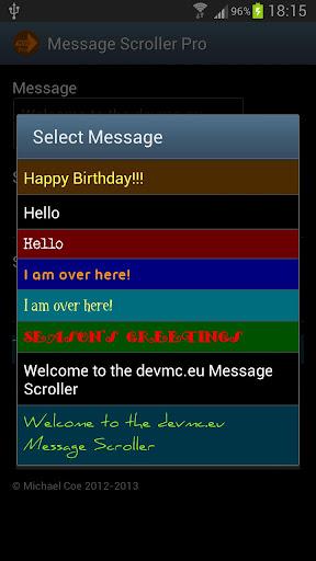 Message Scroller Pro