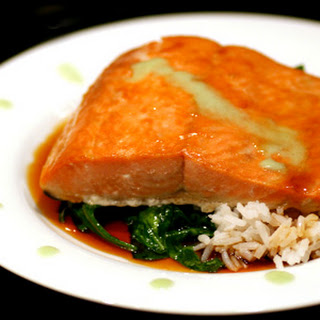Salmon with Soy-Honey Glaze and Wasabi Recipe