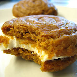 Pumpkin Whoopie Pies with Creamy Cream Cheese Filling.