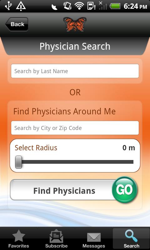 Monarch CareFinder Version 2.0 - screenshot