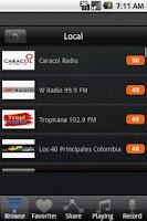 Screenshot of Radio Colombia