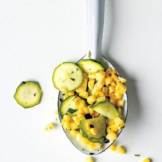 Raw Corn and Zucchini Salad