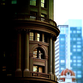 That GAP Building next to the Trolly Turntable on Powell by Bill      (THECREOS) Davis - Buildings & Architecture Office Buildings & Hotels ( building, detail, 5th street, thecreos, san francisco, , Urban, City, Lifestyle )