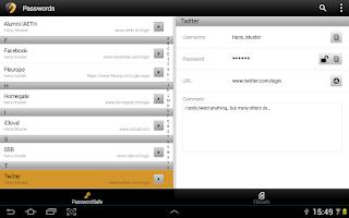 Screenshot of SecureSafe Digital Vault